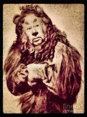 Musicians Royalty Free Images - Bert Lahr, Lion from The Wizard of Oz by John Springfield Royalty-Free Image by Esoterica Art Agency