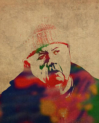 Bass Mixed Media - Bert Large From Doc Martin Watercolor Portrait by Design Turnpike