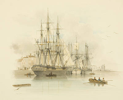 Berth Between The Two Mud Docks In The Grove Print by Thomas Leeson the Elder Rowbotham