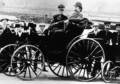 Viktoria Photograph - Bertha And Karl Benz, German Auto by Science Source