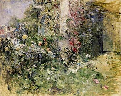 Berthe Morisot Jardin A Bougival The Garden At Bougival Art Print