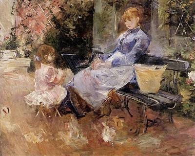 Berthe Morisot Painting - Berthe Morisot by The Fable
