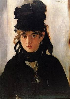 Berthe Digital Art - Berthe Morisot With A Bouque by Anne Pool