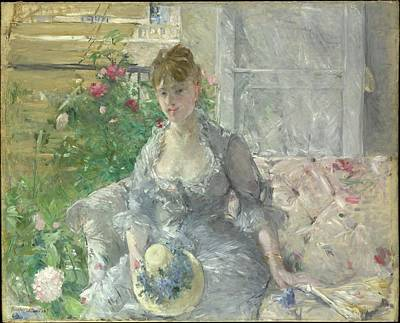 Berthe Digital Art - Berthe Morisot    Young Woman Seated On A Sofa by Rose Lynn