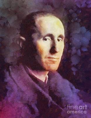 Famous Book Painting - Bertold Brecht, Literary Legend by Sarah Kirk