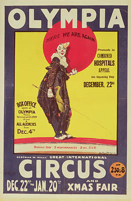 Charity Painting - Bertram Mills Circus Poster by Dudley Hardy