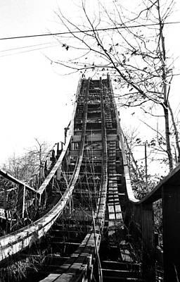 Rollercoaster Photograph - Bertrand Island Rollercoaster by Cris Pizzio