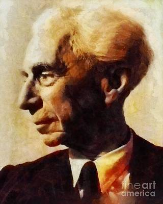 Famous Book Painting - Bertrand Russell, Literary Legend by Sarah Kirk