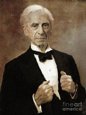 Vintage Painter Painting - Bertrand Russell, Philosopher By Mary Bassett by Mary Bassett