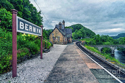 Photograph - Berwyn Railway Station by Ian Mitchell