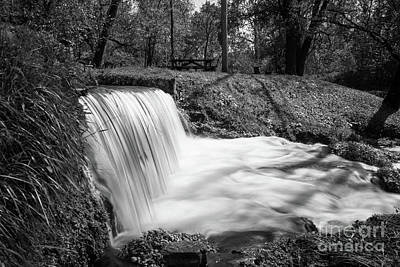 Photograph - Beside Hodgson Spring Falls Grayscale by Jennifer White