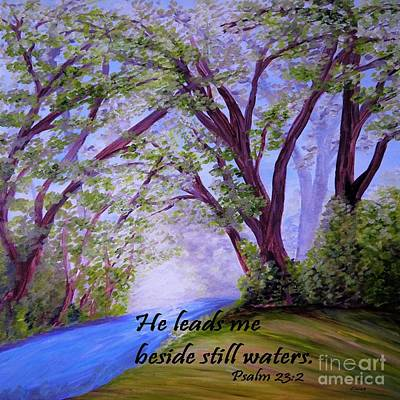 Bible Painting - Beside Still Waters by Eloise Schneider