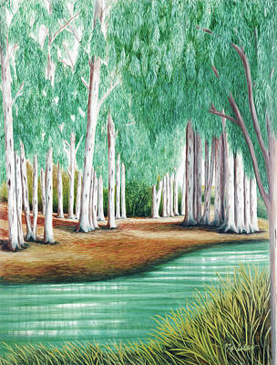 Painting - Beside Still Waters - Psalm 23 - Prints From Original Oil Painting By Mary Grden by Mary Grden Fine Art Oil Painter Baywood Gallery