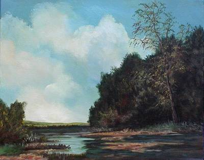 Beside Still Waters Art Print by Sharon Steinhaus