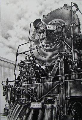 Drawing - Beside The Floodwall Mikado 1518 by Michael Lee Summers