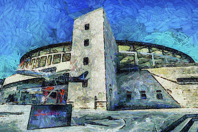 Mixed Media - Besiktas Jk Stadium Art by David Pyatt