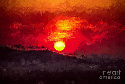 Visiting Digital Art - Beskidy Sunset by Mariola Bitner