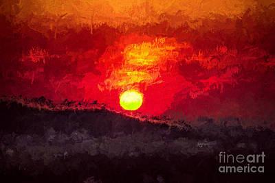 Tourist Attraction Digital Art - Beskidy Sunset by Mariola Bitner