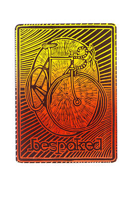 Painting - Bespoked Bicycle Linocut by Mark Howard Jones