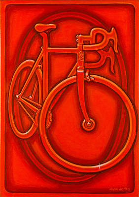 Bespoked In Orange  Art Print