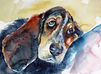 Basset Hound Painting - Besset Hound by Kovacs Anna Brigitta