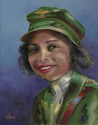 Painting - Bessie Coleman by David Bader
