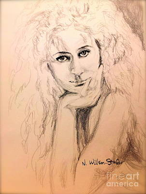 Candid Drawing - Bessie, Intimate by N Willson-Strader