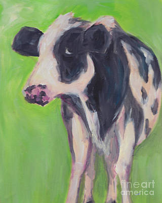 Jersey Cow Painting - Bessie by Robin Wiesneth
