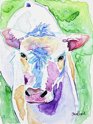 Painting - Bessie the Cow by Shaina Stinard