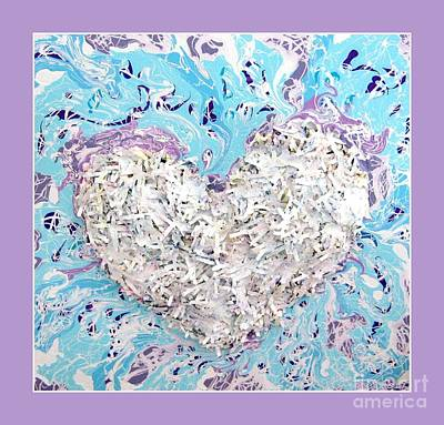 Photograph - Besso Heart Confetti Collage by Marlene Rose Besso