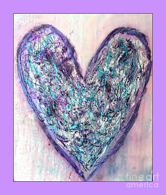 Photograph - Besso Heart Encaustic by Marlene Rose Besso
