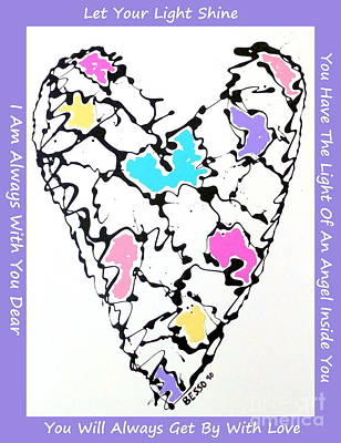 Photograph - Besso Heart Map  by Marlene Rose Besso