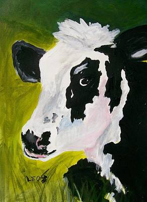 Farm Animal Painting - Bessy The Cow by Leo Gordon