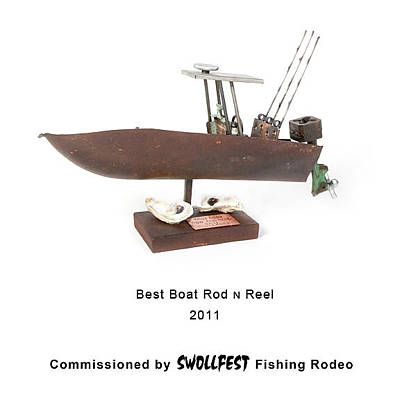 Sculpture - Best Boat Rod N Reel by Benjamin Bullins