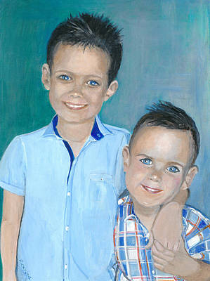 Painting - Best Brothers - Painting by Veronica Rickard