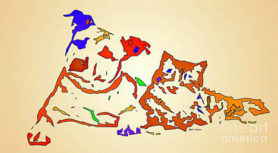 Digital Art - Best Buddies. Pet Series by Rafael Salazar