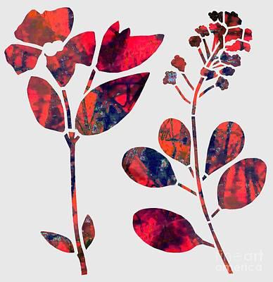 Digital Art - Best Buds by Cecilia Swatton