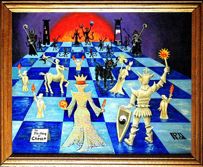 Chess Pieces Painting - Best Chess by Hank Roll
