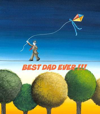 Day Painting - Best Dad Ever by Graciela Bello