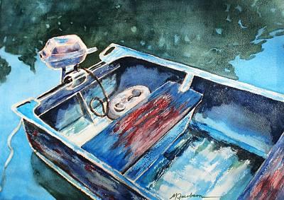 Best Fishing Buddy Art Print by Marilyn Jacobson