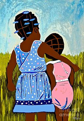 Painting - Best Friends 2 by Saundra Myles