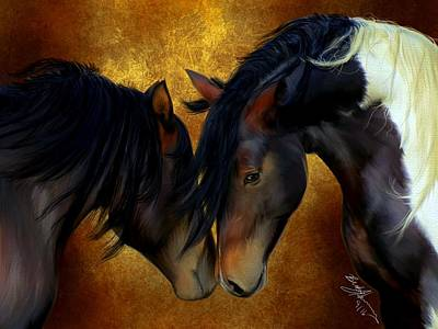 Painting - Best Friends by Becky Herrera