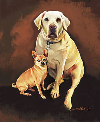 Painting - Best Friends By Spano by Michael Spano