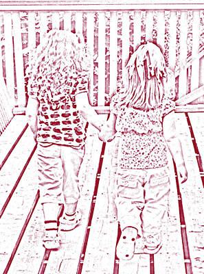 On Deck Digital Art - Best Friends Forever 2 by Barbara Griffin