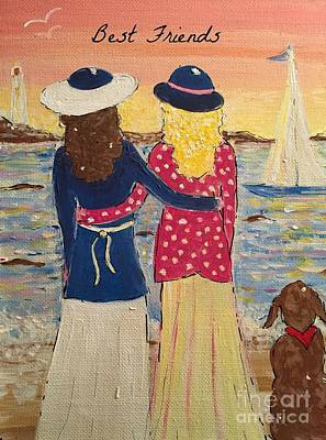 Painting - Best Friends by Jacqui Hawk