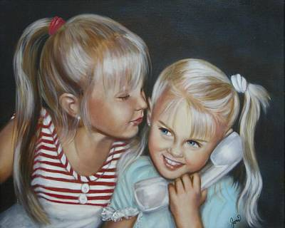Art Print featuring the painting Best Friends by Joni McPherson