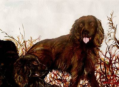 Boykin Spaniel Painting - Best Friends by Lil Taylor