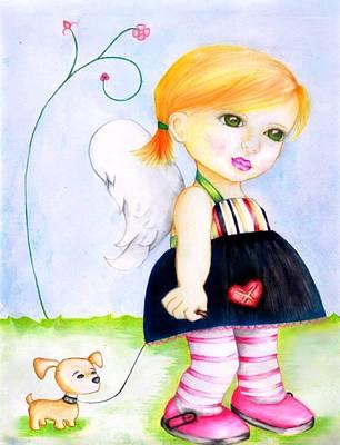Innocent Angels Digital Art - Best Friends by Monica Magallon