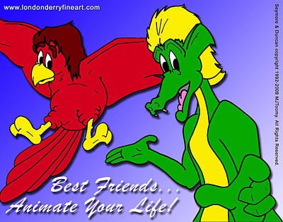 Best Friends...animate Your Life Art Print by Michael James  Toomy
