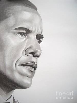 Barack Obama Drawing - Best In Class by Sonya Walker